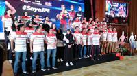 Tim putra dan putri Jakarta Pertamina Energi untuk Proliga 2020 diperkenalkan. (Liputan6.com/Cakrayuri)