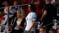 Istri penyerang Timnas Inggris, Rebekah Vardy, dan para WAGS akan mendapatkan pengawalan ketat selama Piala Dunia Rusia 2018. (AFP/Paul Ellis)