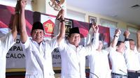Petinggi Gerindra dan PKS usai pendeklarasian dukung Prabowo Subianto sebagai Capres dalam Pilpres 2014. Jakarta, Sabtu (17/5/2014) (liputan6.com/Johan Tallo)