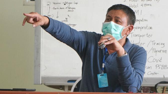 Wakil Sekretaris Gugus Tugas Percepatan Penanganan Covid-19 Kota Surabaya Irvan Widyanto. (Foto: Liputan6.com/Dian Kurniawan)