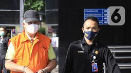 Bupati Banggai Laut, Sulawesi Tengah (Sulteng), Wenny Bukamo tiba di Gedung Merah Putih KPK, Jakarta, Sabtu (5/12/2020). KPK membawa Wenny Bukamo yang terjaring operasi tangkap tangan di Jambi terkait dugaan kasus suap untuk kepentingan kampanye pemenangan. (Liputan6.com/Herman Zakharia)