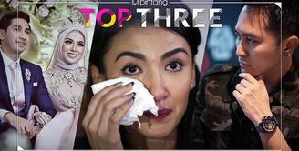 Bintang Top Three hari ini datang dari artis cantik Tsania Marwa, Sarah dan Rahma Azhari, dan sang magician, Demian Aditya.