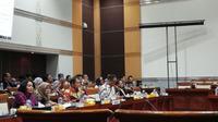 Menkominfo Rudiantara dalam Rapat Kerja Komisi I DPR RI dan Menkominfo di Gedung DPR/MPR RI. Liputan6.com/Andina Librianty