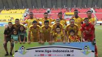 Sriwijaya FC seusai laga kontra PS Tira, Jumat (6/7/2018) di Stadion Gelora Sriwijaya, Palembang. (Bola.com/Riskha Prasetya)