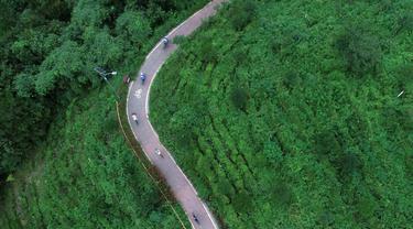 (23/7/2020). Jalur sepanjang 40 kilometer yang membentang di alam bebas ini menawarkan pengalaman yang menyenangkan bagi pesepeda. (Xinhua/Zhang Bowen)