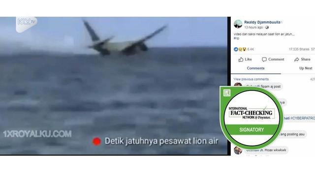 Viral video nelayan rekam Lion Air JT 610 jatuh.