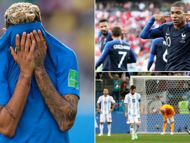 Mulai dari tangisan Neymar saat mengantar Brasil menang hingga kekalahan telak Argentina atas Kroasia menjadi momen menarik terjadi pada matchday ke-2 Piala Dunia 2018 Rusia. Berikut momen-momen menarik yang telah terjadi. (Kolase foto-foto AP)