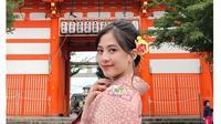 Gaya Zara JKT48 di Kyoto International Film And Art Festival (sumber: instagram/@jkt48.zara)