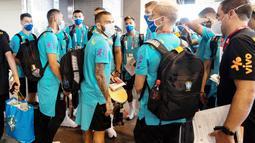 Timnas Sepak bola putra Brasil membawa 22 pemain, termasuk bek senior Dani Alves. (Foto:AFP/Charly Triballeau)