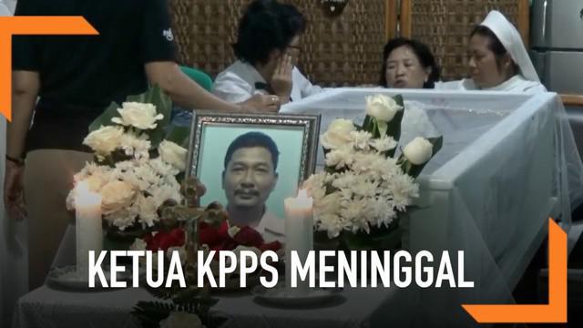 Seorang Ketua KPPS di Bekasi meninggal dunia usai bertugas selama satu hari penuh.