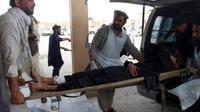 Korban luka ledakan di masjid di Afghanistan (AFP)