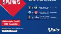 Link Live Streaming NBA Play Off Semifinal di Vidio 18 dan 19 Juni 2021. (Sumber : dok. vidio.com)