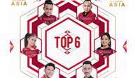 Top 6 D'Academy Asia 3. (Instagram)