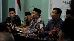 Suasana jumpa pers terkait penolakan penambahan agama baru selain enam agama yang sudah diakui di Indonesia, Jakarta, Kamis (13/11/2014).  (Liputan6.com/Johan Tallo)