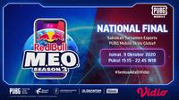 Babak final PUBG Mobile Red Bull M.E.O Season 3 dapat disaksikan live streaming di Vidio. (Sumber: Vidio)