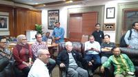 KPU bertemu Bagir Manan dan Mahfud MD. (Merdeka.com)