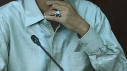 Terpidana korupsi penyelenggaraan ibadah haji 2010-2013, Suryadharma Ali saat menjalani sidang lanjutan Peninjauan Kembali (PK) di Pengadilan Tipikor, Jakarta, Senin (2/7). Sidang beragenda pengajuan bukti dari pemohon. (Liputan6.com/Helmi Fithriansyah)