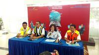 Jumpa Pers Direktur Jenderal Perhubungan Udara di Balikpapan. (Liputan6.com/ Abelda Gunawan)