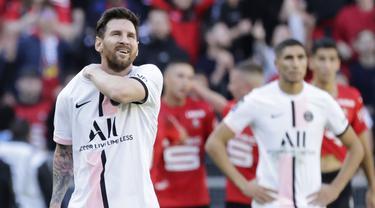 Paris Saint-Germain (PSG) harus menelan pil pahit kala bertandang ke markas Rennes pada laga pekan kesembilan Liga Perancis. (AP/Jeremias Gonzales)