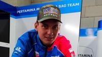 Rider Belanda berdarah Indonesia, Bo Bendsneyder, menjadi pembalap tim Pertamina Mandalika SAG Team. (dok. Pertamina Mandalika SAG Team)
