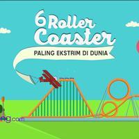 Roller coaster adalah wahana permainan berupa kereta yang dipacu dengan kecepatan tinggi pada jalur rel khusus. Roller Coaster ini memiliki keekstriman luar biasa yang membuat adrenalin kamu tertantang. 6 Roller Coaster terekstrim di Dunia, Bintang.c...