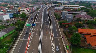 Jalan tol Bogor Outer Ring Road (BORR) seksi IIB dari Kedung Badak ke Yasmin sepanjang ruas 2,65 kilometer. (Dok Kementerian PUPR)