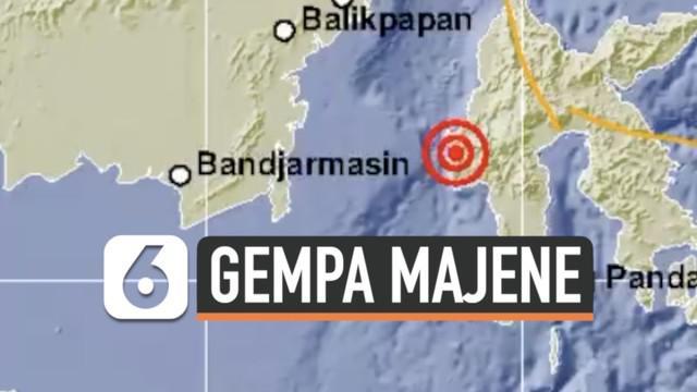 Daerah Majene Sulawesi Barat kembali diguncang gempa susulan Jumat (15/1). Gempa berkekuatan magnitudo 6,2.