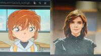 5 Tokoh Tanah Air Ini Disangka Netizen Mirip Karakter Anime, Bikin Tepuk Jidat (sumber: twitter.com/larasrahmanti)