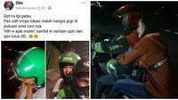Momen Kocak Driver Ojek Online Dapat Penumpang Galau Ini Bikin Cengar-Cengir (sumber:Instagram/dramaojol.id)