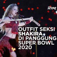 Outfit Seksi Shakira di Panggung Super Bowl 2020