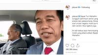 Jokowi Diajak Ngebut Mahathir Mohammad (Instagram)