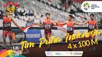 Garuda Kita Asian Games Tim Putra Indonesia Pelari 4x100M (Bola.com/Adreanus Titus)