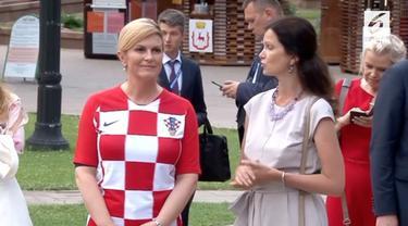 Presiden Kroasia, Kolinda Grabar menjadi sorotan selama piala dunia 2018.