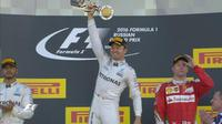 Pebalap Mercedes, Nico Rosberg, menjadi juara F1 GP Rusia di Sochi Autodrom, Minggu (1/5/2016). (Bola.com/Twitter/Formula 1)