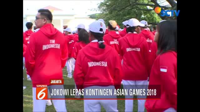 Berita video Presiden Republik Indonesia, Joko Widodo (Jokowi), melepas kontingen tim Indonesia yang akan berjuang di Asian Games 2018, Rabu (8/8/2018). (Video: SCTV)
