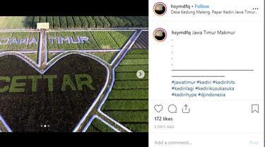 Crop Circle di Sawah Petani Kediri, Tempat Wisata Baru Rekomendasi Gubernur Khofifah