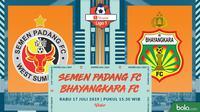 Shopee Liga 1 - Semen Padang FC Vs Bhayangkara FC (Bola.com/Adreanus Titus)