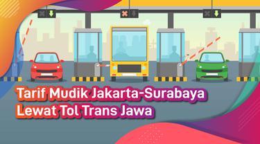 Tarif Mudik Jakarta-Surabaya Lewat Tol Trans Jawa
