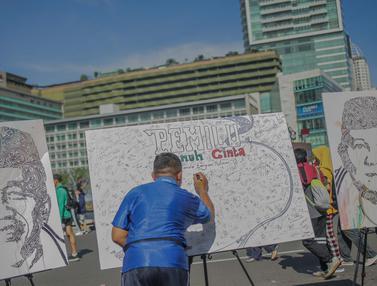 Antusiasme Masyarakat Berpartisipasi dalam Kampanye Pemilu Damai