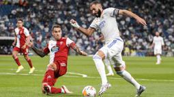 Pasukan Carlo Ancelotti itu mengamuk dan mengakiri laga dengan kemenangan telak 5-2. (Foto:AP/Manu Fernandez)