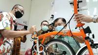 Satu unit sepeda premium milik Ketua Palang Merah Indonesia (PMI) DKI Jakarta telah dibubuhi tandatangan Ketua Umum PMI Jusuf Kalla (JK) dan Sandiaga Uno sukses dilelang Rp200 juta, Selasa (11/8/2020). (Dok Tim Komunikasi Jusuf Kalla/JK)