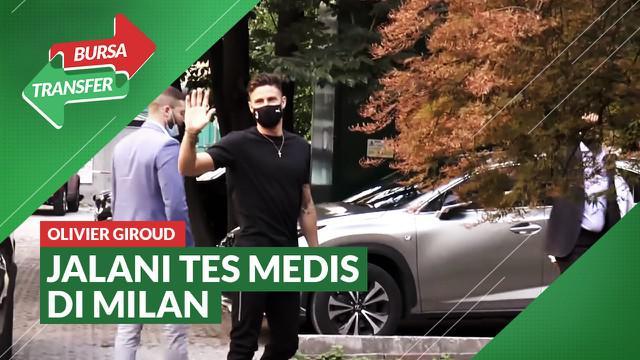 Berita Video, Olivier Giroud Jalani Tes Medis di AC Milan pada Jumat (16/7/2021)