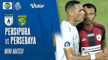 Berita video highlights pertandingan BRI Liga 1 2021/2022 antara Persebaya Surabaya melawan Persipura Jayapura yang berlangsung di Stadion Maguwoharjo, Sleman, Sabtu (16/10/2021).