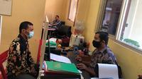 Koboy Jalanan Mengaku Anggota Polisi Saat Menjalani Pemeriksaan Di Polres Lebak. (Jumat, 07/05/2021). (Dokumentasi Polres Lebak).