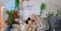 Roger Danuarta dan Cut Meyriska juga menggelar akikah untuk anak pertama mereka, Shaquille Kaili Danuarta yang digelar secara sederhana. (Foto: Instagram Roger Danuarta)