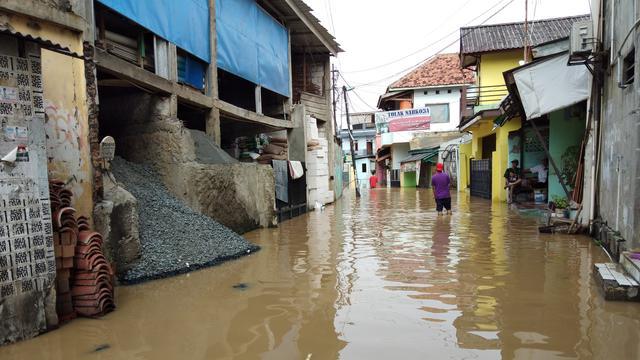 Banjir Di Kelurahan Cililitan Jakarta Timur Jumat