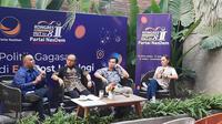 Ketua Bidang Media dan Komunikasi Publik DPP Partai NasDem, Willy Aditya Saat Menghadiri Acara Diskusi Partai Nasdem di Kawasan Menteng, Jakarta, Kamis (3/10/2019)