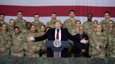 Hari Thanksgiving, Trump Tengok Tentara AS di Afghanistan