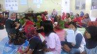 Menteri Ketenagakerjaan Ida Fauziyah menemui para pekerja migran Indonesia (PMI) di Sony Company.