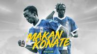 Potret Penampilan Musim Pertama Konate di Indonesia bersama PSPS.. (Bola.com/Dody Iryawan)